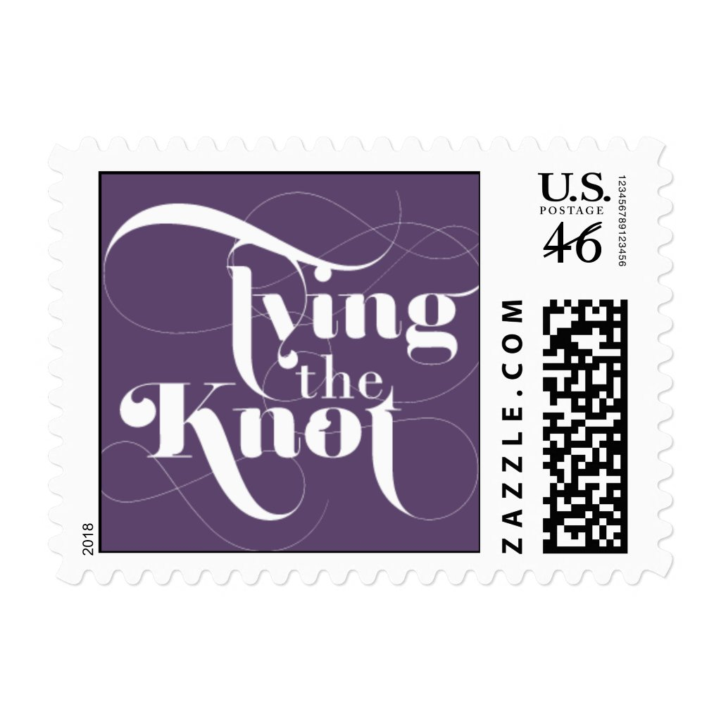 Foxy - Tying the Knot - Purple Stamps