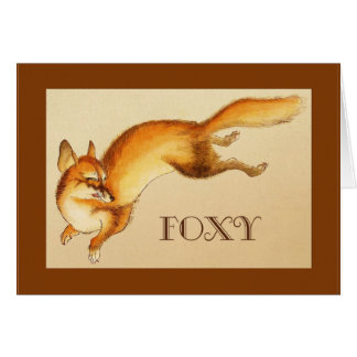 """""""Foxy"""" - Vintage Japanese sketch of a fox Card"""