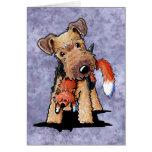Foxy Welsh Terrier Card