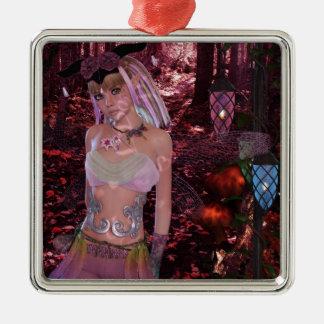 FoxyPinksBig.jpg Metal Ornament