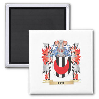 Foy Coat of Arms - Family Crest 2 Inch Square Magnet
