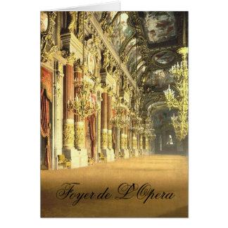 Foyer de L'Opera Blank Note Card