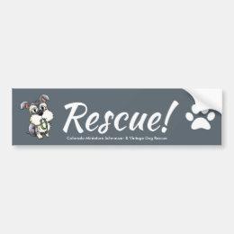 Fozi - Schnauzer Rescue Bumper Sticker