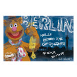 Fozzie Bear - Berlin, Germany Poster Posters
