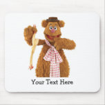 Fozzie Bear holding a rubber chicken Mouse Pad