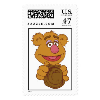 Fozzie Bear Holding Disney Postage