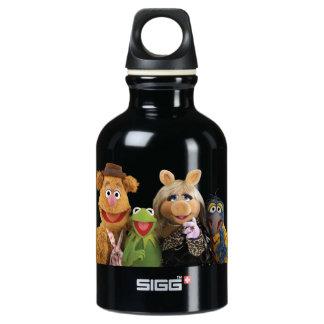 Fozzie, Kermit, Miss Piggy, and Gonzo Aluminum Water Bottle