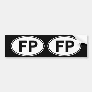 FP Oval Identity Sign Bumper Sticker
