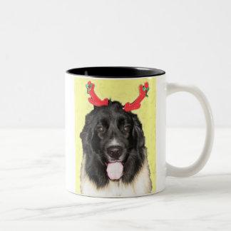 FPG Newfie Xmas - Two-Tone Coffee Mug