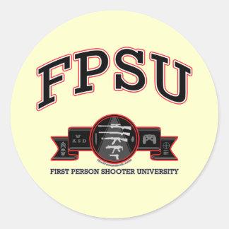 FPSU ROUND STICKER