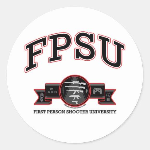 FPSU ROUND STICKERS