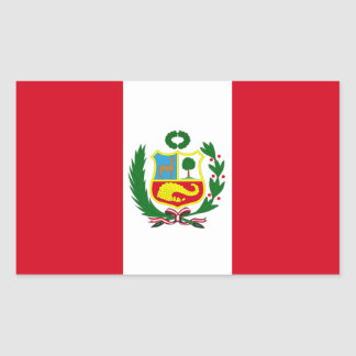 FPUR Peru National Flag Rectangular Sticker