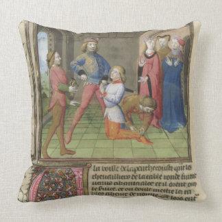 Fr 120 f 522v el Knighting de Lancelot del Cojin