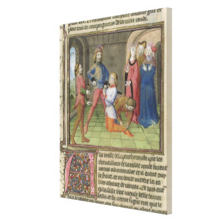 Fr.120 f.522v The Knighting of Lancelot from 'The Canvas Print