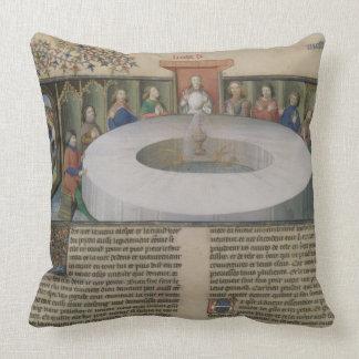 Fr 120 f 524v los caballeros de la mesa redonda de cojin