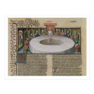 Fr.120 f.524v los caballeros de la mesa redonda de postales