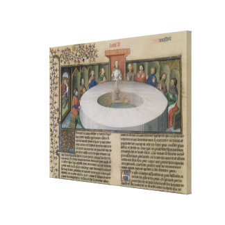 Fr.120 f.524v The Knights of the Round Table from Canvas Print