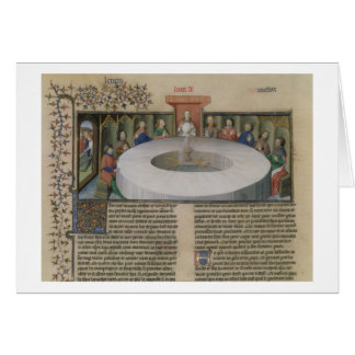 Fr.120 f.524v The Knights of the Round Table from Card
