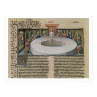 Fr.120 f.524v The Knights of the Round Table from Postcard