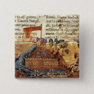 Fr 4972 f.1: Jerusalem in the Crusades Pinback Button