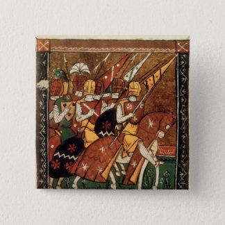Fr 9084 f.20v: Knights on horseback Button