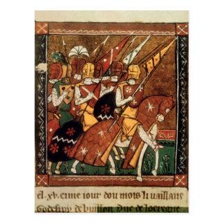 Fr 9084 f.20v: Knights on horseback Postcard