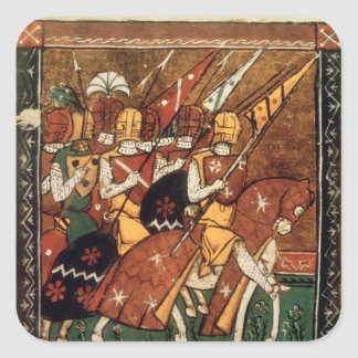 Fr 9084 f.20v: Knights on horseback Square Sticker