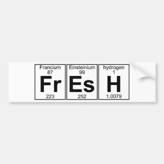 Fr-Es-H (fresh) - Full Bumper Sticker