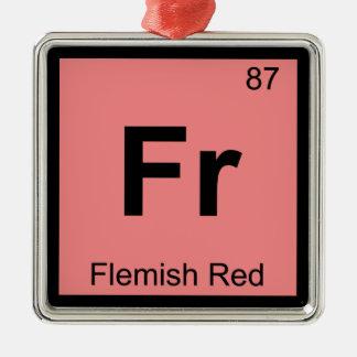 Fr - Flemish Red Chemistry Periodic Table Symbol Christmas Tree Ornament