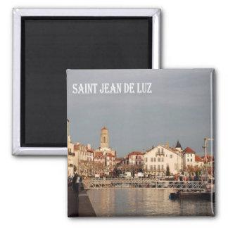 FR - France - French Riviera - Saint-Jean-de-Luz 2 Inch Square Magnet