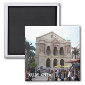 FR-France-French Riviera-Toulon-Opera 2 Inch Square Magnet