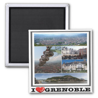 FR - France - Grenoble - I Love - Collage Magnet