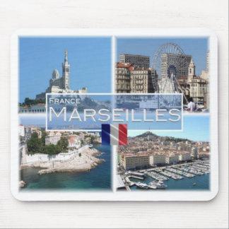 FR France - Marseilles - Notre Dame de a Garde Mouse Pad