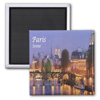 FR - France - Paris - The Seine 2 Inch Square Magnet