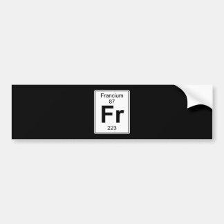 Fr - Francium Bumper Sticker