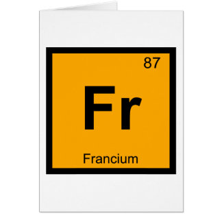 Fr - Francium Chemistry Periodic Table Symbol Greeting Card