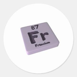 Fr Francium Classic Round Sticker
