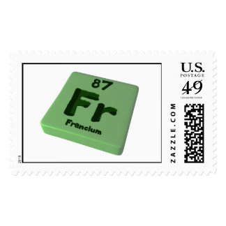 Fr Francium Postage Stamp