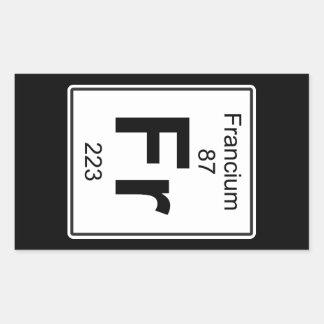 Fr - Francium Rectangular Sticker