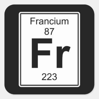 Fr - Francium Square Sticker