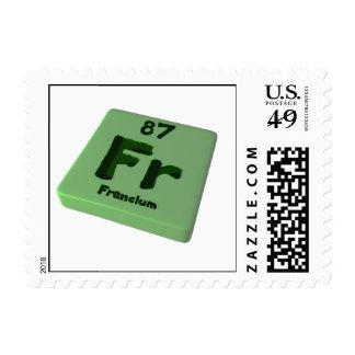 Fr Francium Stamps