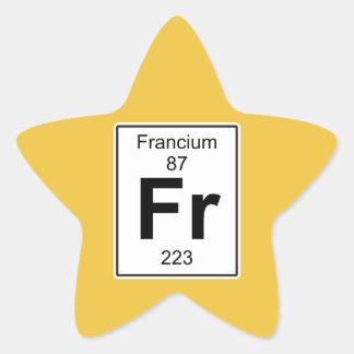 Fr - Francium Star Sticker