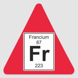 Fr - Francium Triangle Sticker
