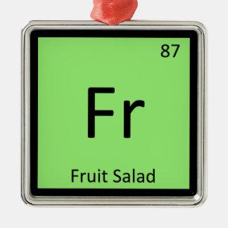 Fr - Fruit Salad Appetizer Chemistry Symbol Christmas Ornaments