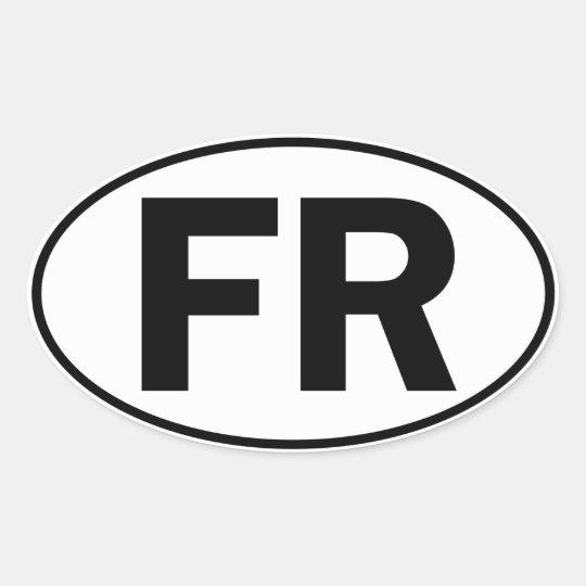 FR Oval Identity Sign Oval Sticker