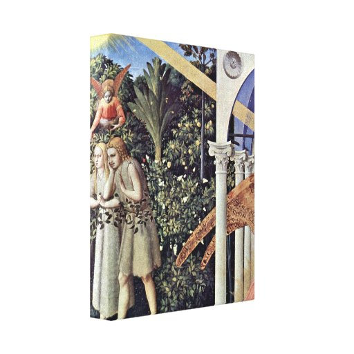 Fra Angelico - Adam and Eve expelled Gallery Wrap Canvas
