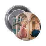 Fra Angelico- Annunciation 2 Inch Round Button