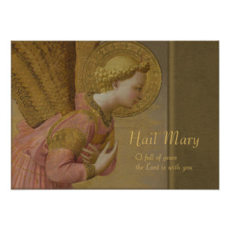 Fra Angelico Annunciation angel CC0816 Poster