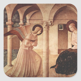 Fra Angelico Art Square Sticker