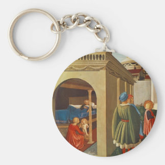Fra Angelico- Birth of St. Nicholas Key Chains
